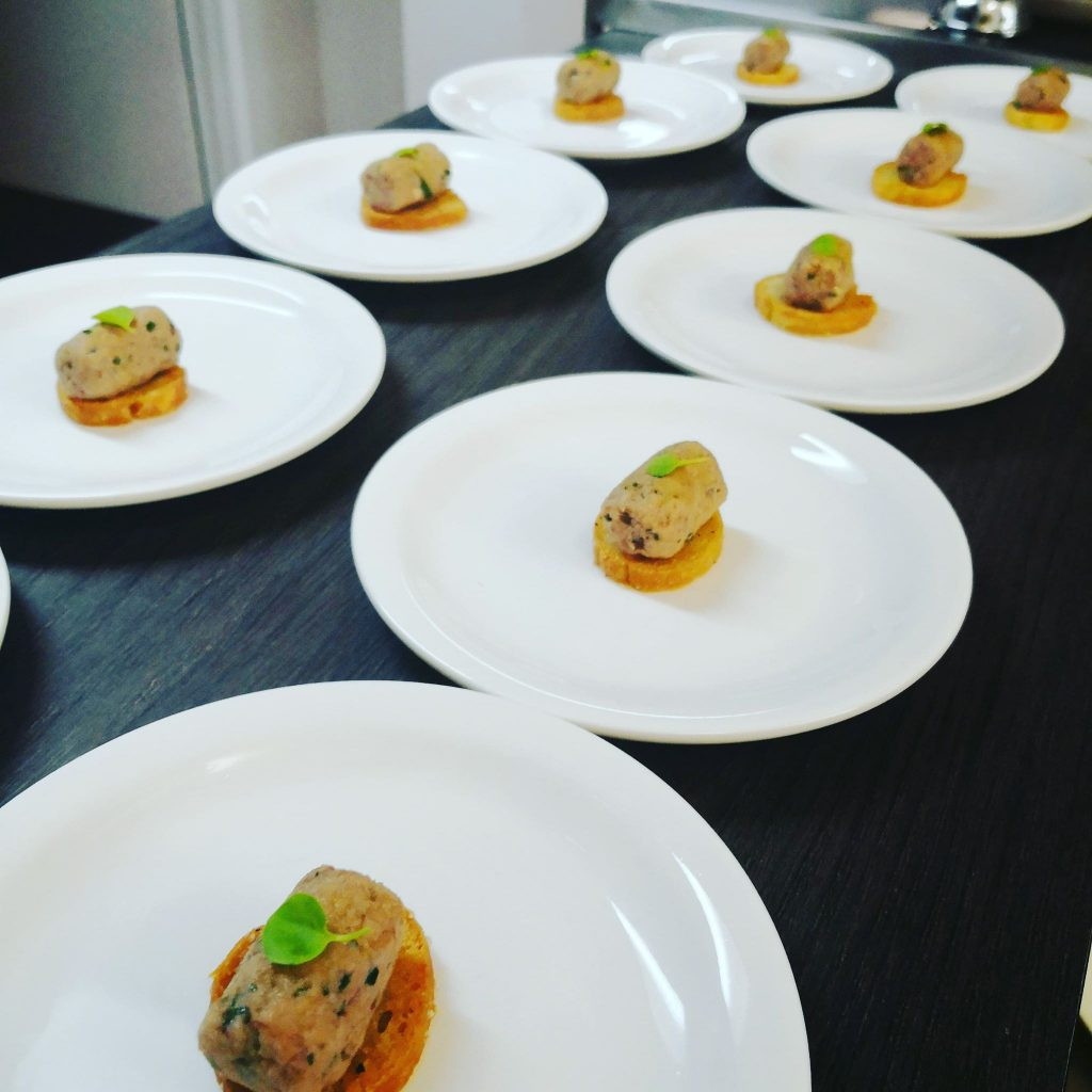 Amuse on the plate
