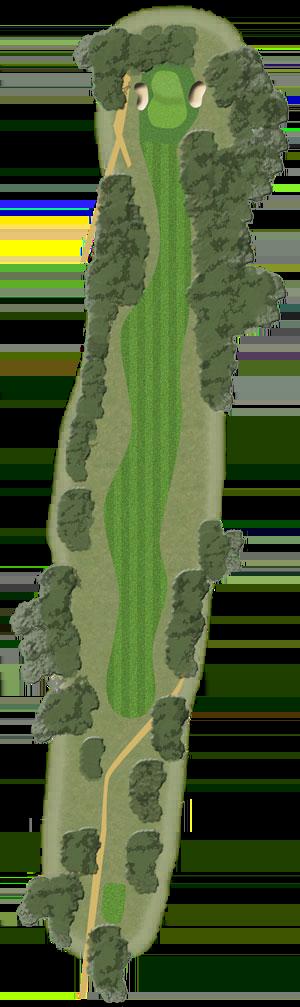 Toowoomba Golf Course Hole 1 illustration