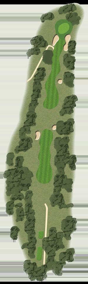 Toowoomba Golf Course Hole 10 illustration