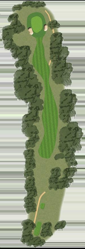 Toowoomba Golf Course Hole 11 illustration