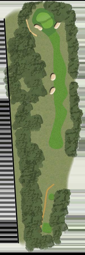 Toowoomba Golf Course Hole 12 illustration