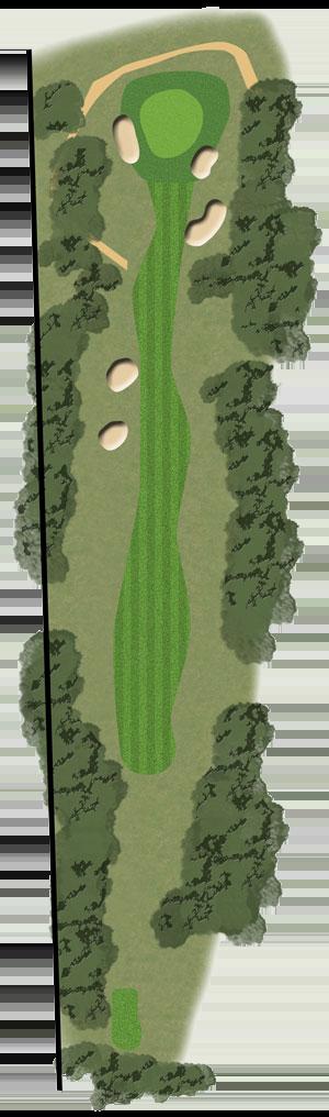 Toowoomba Golf Course Hole 13 illustration