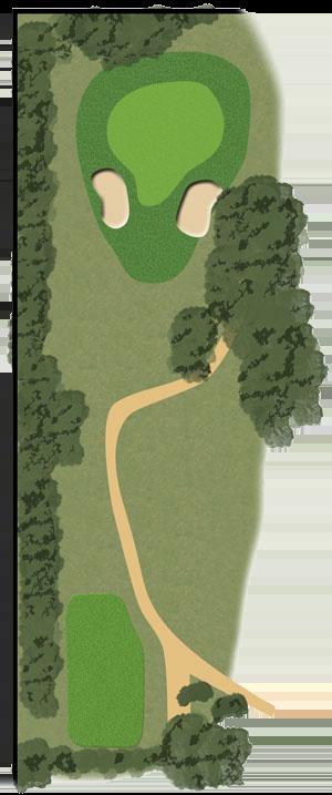 Toowoomba Golf Course Hole 14 illustration