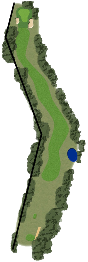 Toowoomba Golf Course Hole 15 illustration