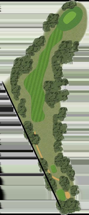 Toowoomba Golf Course Hole 16 illustration