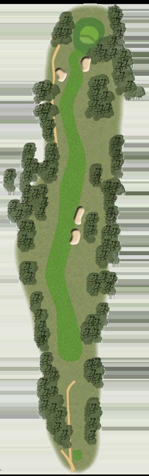 Toowoomba Golf Course Hole 17 illustration
