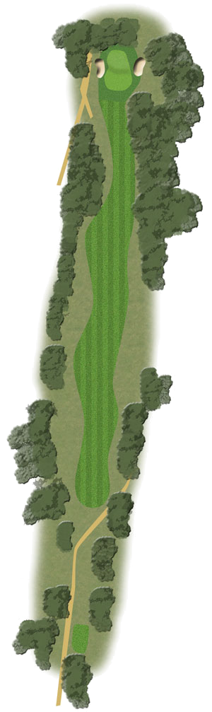 Hole 18 illustration of Toowoomba Golf Course