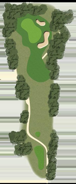 Toowoomba Golf Course Hole 2 illustration