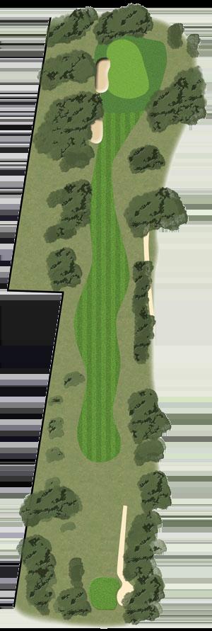 Toowoomba Golf Course Hole 3 illustration