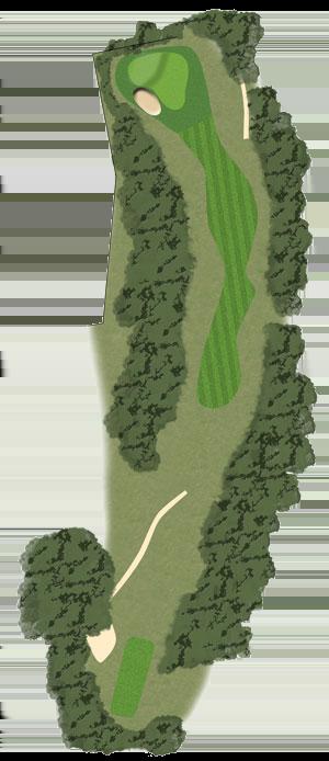 Toowoomba Golf Course Hole 4 illustration