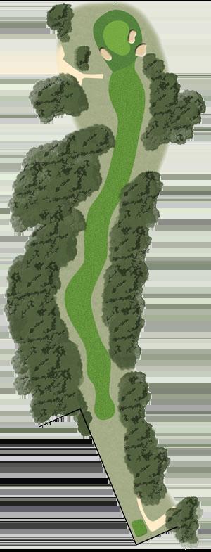 Toowoomba Golf Course Hole 5 illustration