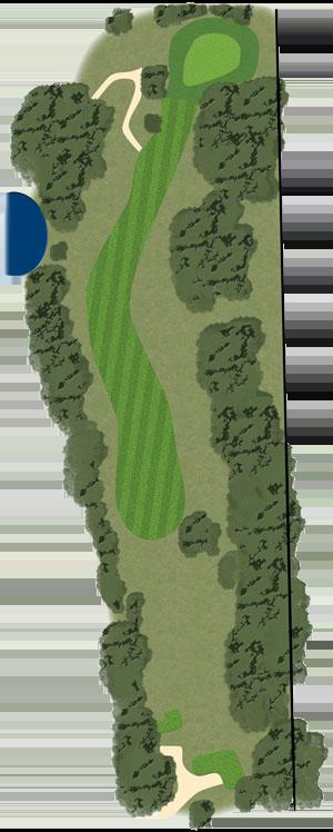 Toowoomba Golf Course Hole 6 illustration