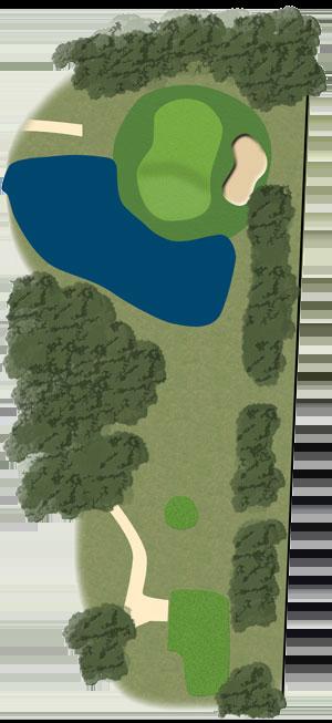 Toowoomba Golf Course Hole 7 illustration