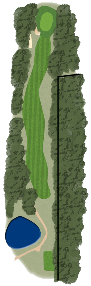 Toowoomba Golf Course Hole 8 illustration