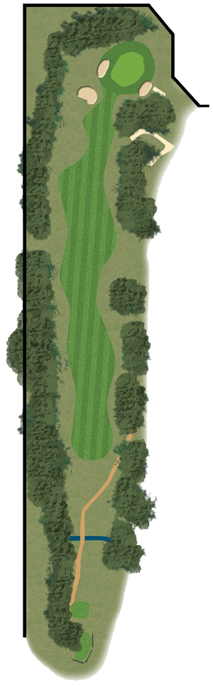 Toowoomba Golf Course Hole 9 illustration